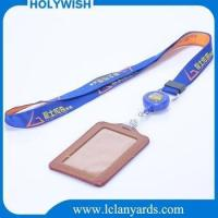 Wholesale custom polyester badge holder woven jacquard lanyards for event
