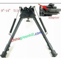 Buy cheap Stud Spring Eject 9-14 inch Tilt Rifle scope Bipod Adapter For picantinny Rail from wholesalers