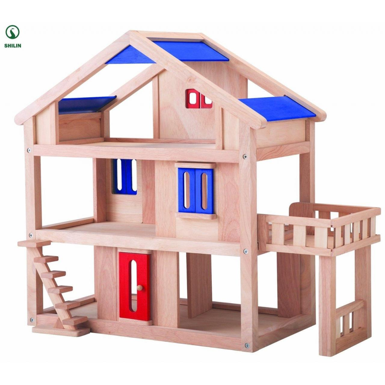 Buy cheap wooden doll house for kids from wholesalers