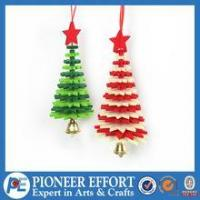 Buy cheap Wooden christmas tree hanging ornament for wall decoration from wholesalers