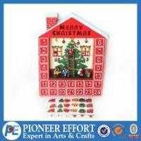 Buy cheap Wooden christmas house advent calendar with decorative hanging ornaments from wholesalers