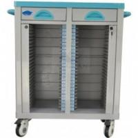 Buy cheap AG-CHT003 Double rows medical records trolley from wholesalers