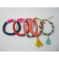 Buy cheap 5pcs Beaded Tassel Charm Cord Fashion Bracelets for Women from wholesalers