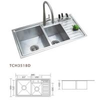TCH3518D Multifunction Stainless Steel Sink
