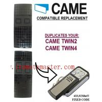Buy cheap Title:CAME TWIN2, TWIN4 universal remote control replacement transmitter, 433.92Mhz fixed code clone from wholesalers