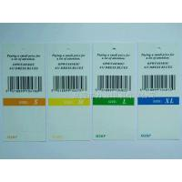 Buy cheap Scope classified by tag Colored clothing tag serial number bar code from wholesalers