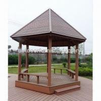 Buy cheap Garden Gazebo with Perfect Outdoor Living Space and Polish Surface Treatment, Made of Wooden Plastic from wholesalers