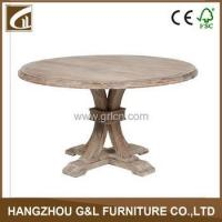 Buy cheap usa style antique solid oak wood round shape dining table/dining room furniture from wholesalers