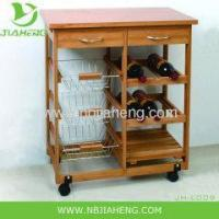 Buy cheap NEW KYOTO BAMBOO HOME KITCHEN STORAGE ROLLING SERVING CART ISLAND TROLLEY from wholesalers