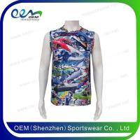 Buy cheap Singlets&Vests Logo printed custom dry fit singlets custom dry fit tank top from wholesalers