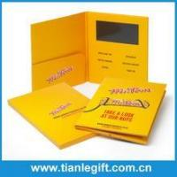 Buy cheap Promotional lcd screen video brochure greeting card for business gift from wholesalers