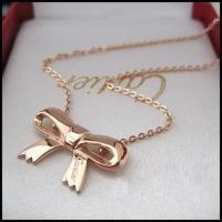 Buy cheap Wholesale Replica Cartier Pink Gold Butterfly Necklace from wholesalers