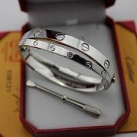 Buy cheap Fake Cartier Love Bracelet Two White Gold Love Bangles from wholesalers