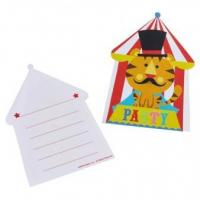 Buy cheap 8 Invitations & Envelopes Fisher-Price Circus from wholesalers