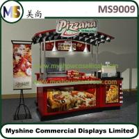 Buy cheap Indoor food cart for donut hot dog potato chips movable cart wooden cart design from wholesalers