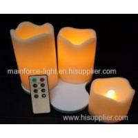 Buy cheap Set of 3 rechargeable LED candles with remote and time from wholesalers
