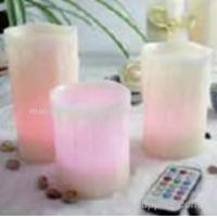 Buy cheap Set of 3 Multi colour LED candles with remote and timer from wholesalers