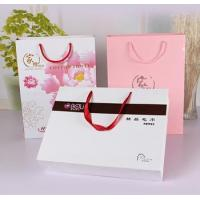 Buy cheap White matt gift paper bags with black hot foil stamping from wholesalers