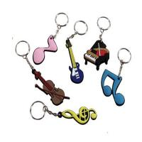 Buy cheap customized micro injection 2d PVC keychain from wholesalers