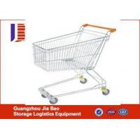 Buy cheap Stainless Steel 180L Wire Metal Hand Supermarket Shopping Carts With Baby Seat from wholesalers