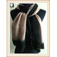 Buy cheap Tie-dye borders viscose scarf, china scarf factory from wholesalers