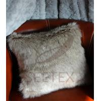 Buy cheap Gray wolf faux fur pillow from wholesalers