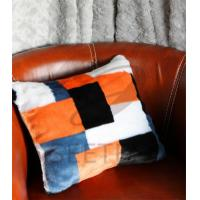 Buy cheap Geometrical pattern design faux fur pillow from wholesalers