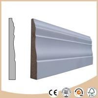 Buy cheap WPC Vinyl Flooring White primed MDF skirting board / baseboard molding for flooring from wholesalers