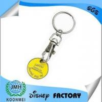 Buy cheap zinc alloy trolley coin keychains from wholesalers