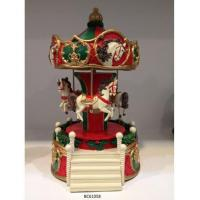 Buy cheap Happiness ladder christmas carousel music box christmas animated musical toys from wholesalers