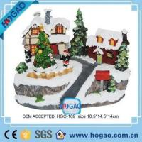 OEM ODM Resin Figurine Christmas House Children Decorating Christmas Trees