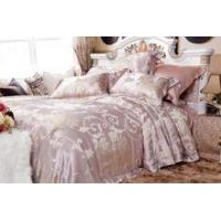Buy cheap jacquard fabric luxury silk duvet bed sheet enjoy fashion bedding set from wholesalers