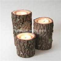 Buy cheap Real Tree Wood Birch Log Tea-light Candle Holder unique gift from wholesalers