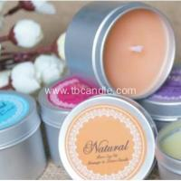 Buy cheap Aromatic soy wax candles--non toxic with cotton wick in tin from wholesalers