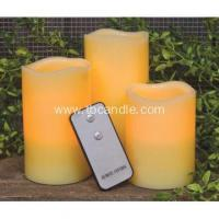 Buy cheap three pcs decorative flameless LED candle with remote from wholesalers