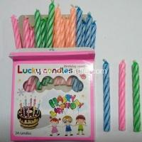 Buy cheap Party Time Birthday Spiral Mini Taper candle from wholesalers