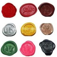 Buy cheap Customise sealing wax hot stamp seal stickers from wholesalers