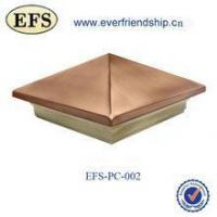 Buy cheap wood base pyramid copper top post cap for 8 post from wholesalers