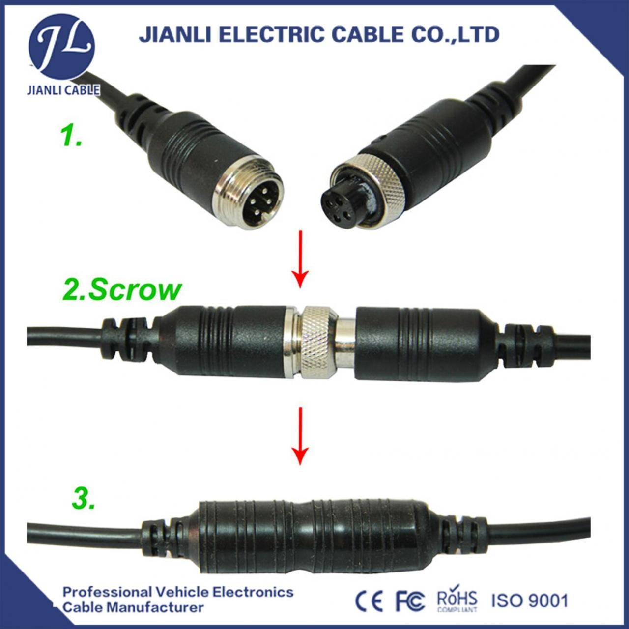 Buy cheap 4Pin 15m Video Extension Cable for Car Rear View Reverse Camera Bus Truck CN from wholesalers