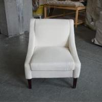 Buy cheap french style solid wood wedding chair linen upholstery armchair from wholesalers