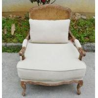Buy cheap French Antique Furniture Solid Oak Wooden Rattan Back Chair Indonesia Style from wholesalers