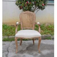 Buy cheap French Antique Furniture Vines Outdoor Cane Rattan Back Fabric seats Wedding Arm Chair on sale from wholesalers