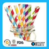 Buy cheap Paper Straws Striped Paper Straws from wholesalers
