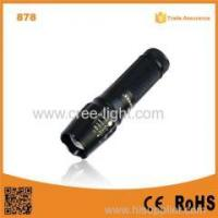 Buy cheap 878 10W LED Flash light Torch Adjustable Focus police led torch flashlight from wholesalers