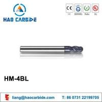 HM-4BL ball nose solid carbide end mills with straight shank and long shank