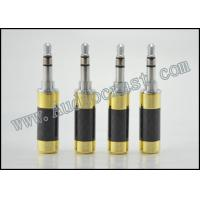 Buy cheap 2p Gold plated cover and Rhodium Body 3.5mm Mini Jack Stereo Plug Connector Carbon Fiber from wholesalers