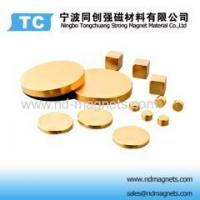 Buy cheap Gold coated Neodymium Disc magnets product