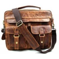 Buy cheap Wholesale executive retro genuine leather men briefcase from wholesalers