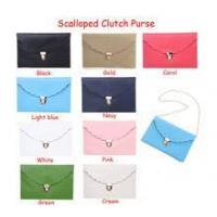 Scalloped clutch purse in stock