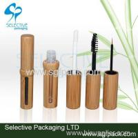 Buy cheap makeup package cosmetic container lip gloss eye liner and mascara bamboo package Admin Edit from wholesalers